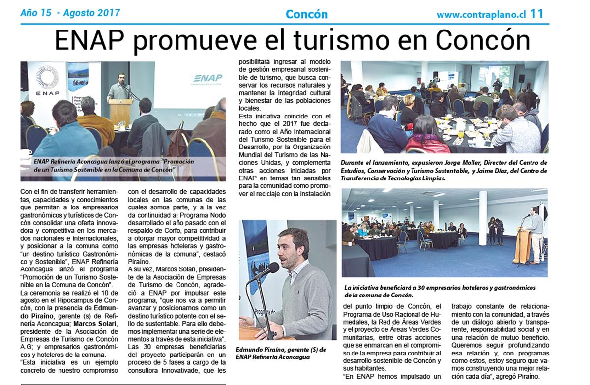ENAP promueve el turismo en Concón